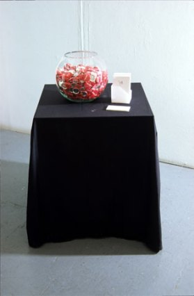 susan pui san lok, My Heart Your Sleeve, 2000 (installation view)