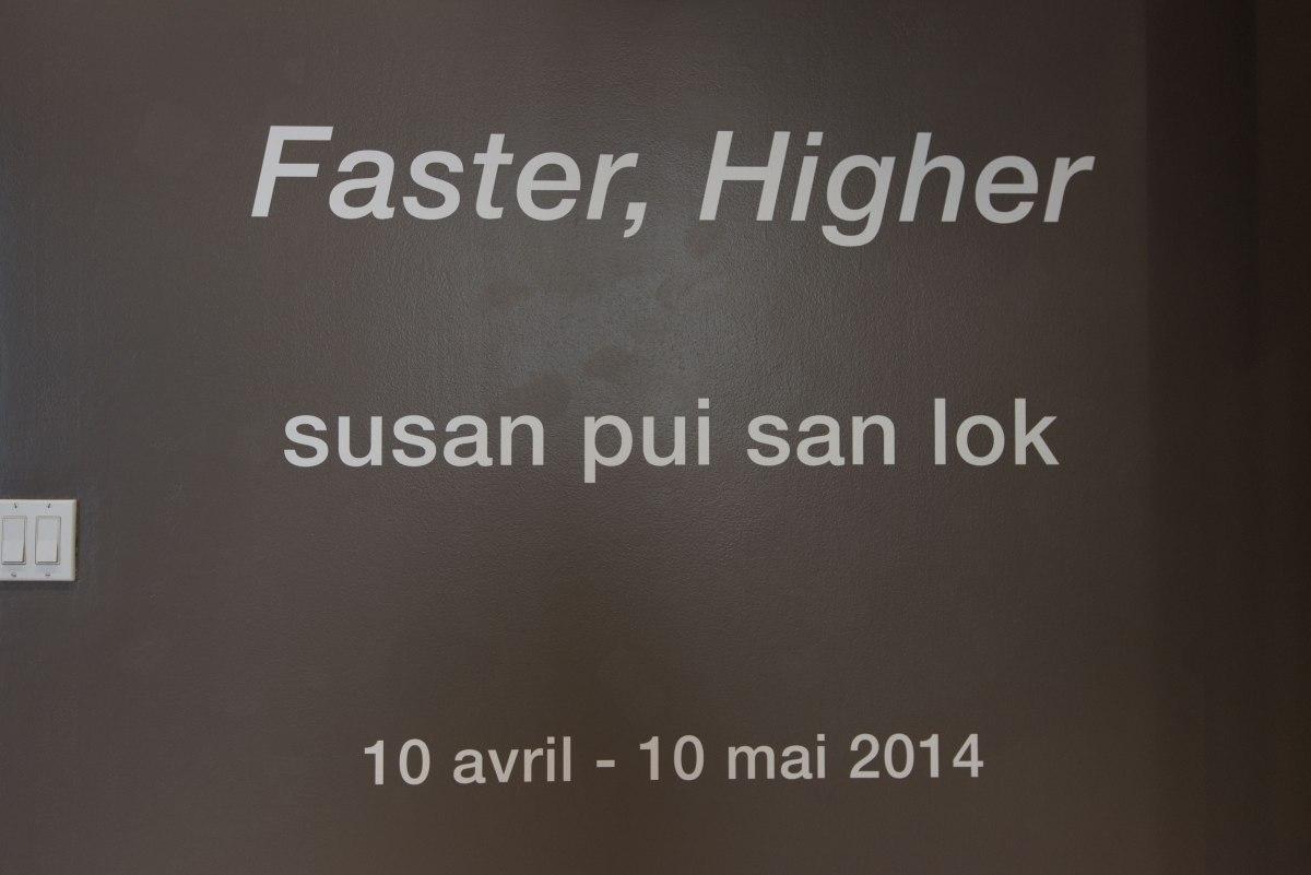 susan pui san lok, Faster, Higher, 2008