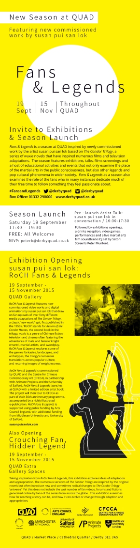 FANS & LEGENDS – QUAD Exhibitions & Season Launch – 19 Sept 2015